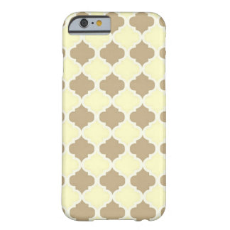 Brown Yellow Maroccan Trellis - Quatrefoil Clover Barely There iPhone 6 Case