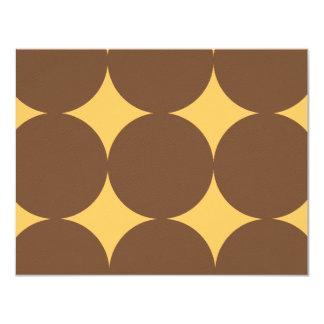 Brown & Yellow Modern Polka Dots Weddin RSVP card Invites