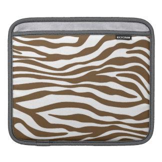 Brown Zebra Animal Print iPad Sleeves