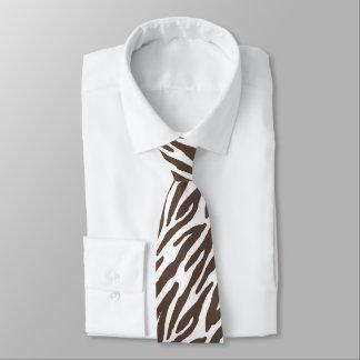 Brown Zebra Pattern Tie