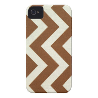 Brown Zig Zag iPhone iPhone 4 Case-Mate Cases