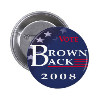 Brownback 2008 Button