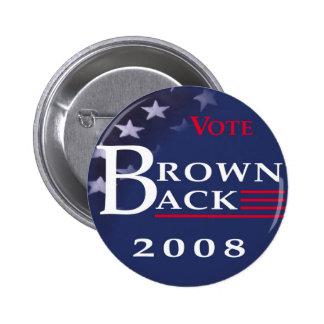 Brownback 2008 Button
