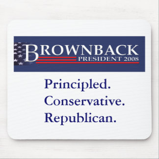 BROWNBACK FOR PRESIDENT Mousepad