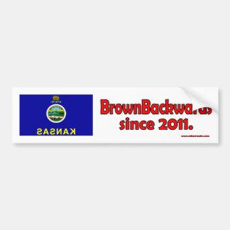 BrownBackwards Bumper Sticker