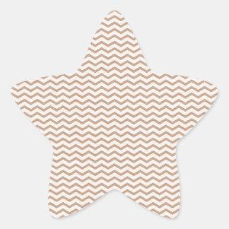 brownchevrongrungepaper BROWN GRUNGE zigzags CHEVR Stickers