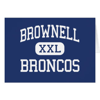 Brownell Broncos Middle Grosse Pointe Greeting Card