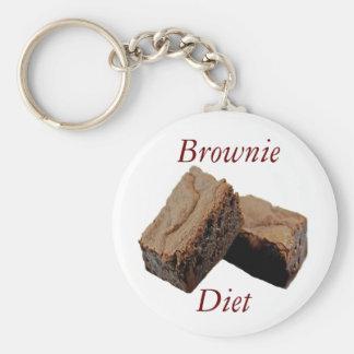 Brownie Diet Basic Round Button Key Ring