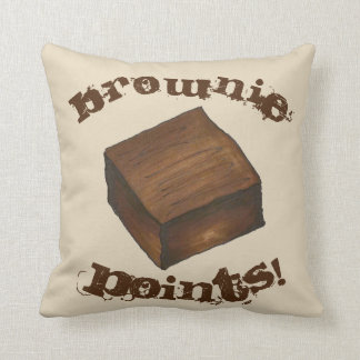 Brownie Points Foodie Baked Goods Dessert Cushion