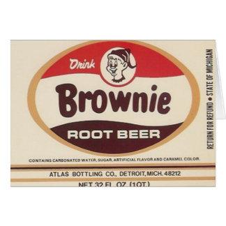 brownie root beer label greeting card