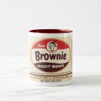 brownie root beer label mug