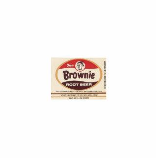 brownie root beer label photo sculpture