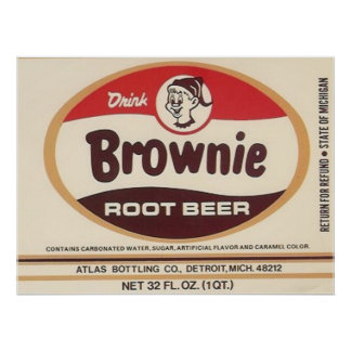 brownie root beer label poster