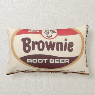 Brownie Root Beer Throw Pillow