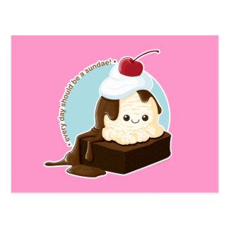 Brownie Sundae Postcard