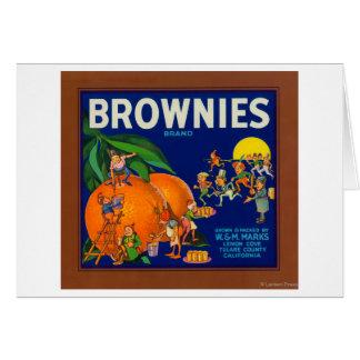 Brownies Brand Citrus Crate Label Card