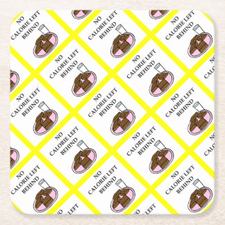 brownies square paper coaster