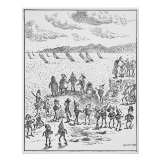 Brownies Watch Yachts on the Bay Print