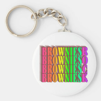 BROWNIESROCK BASIC ROUND BUTTON KEY RING