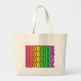 BROWNIESROCK LARGE TOTE BAG