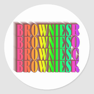 BROWNIESROCK ROUND STICKER