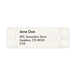 Brownish mandala return address label