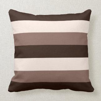 Browns & Cream Horizontal Striped Design Cushion