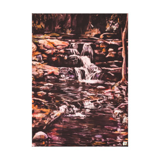 Brown's Falls Upper cascades Canvas Print