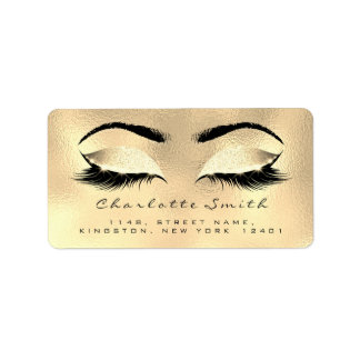 Browns Wax Makeup Lashes Return Address Labels
