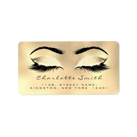 Browns Wax Makeup Lashes Return Address Labels