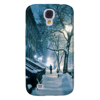 Brownstones Blanketed In Snow Samsung Galaxy S4 Cases