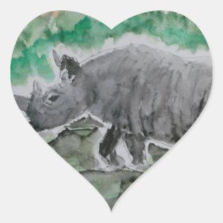 Browsing Rhinos Heart Sticker