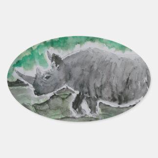 Browsing Rhinos Oval Sticker