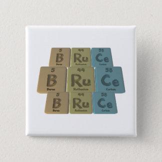 Bruce as Boron Ruthenium Cerium 15 Cm Square Badge