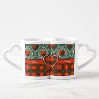 Bruce clan Plaid Scottish tartan Lovers Mug Set