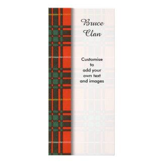 Bruce clan Plaid Scottish tartan Rack Card