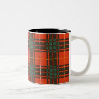 Bruce clan Plaid Scottish tartan Two-Tone Mug
