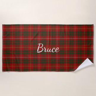 Bruce Clan Tartan Plaid Beach Towel