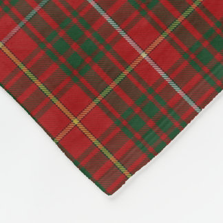 Bruce Clan Tartan Plaid Fleece Blanket