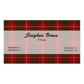 Bruce Clan Traditional Tartan Plaid Custom Business Card Templates