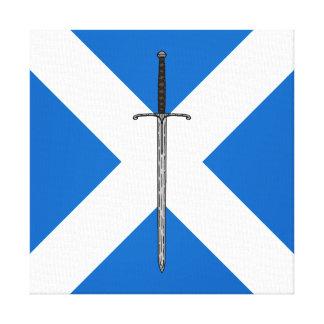 Bruce Sword on Saltire Canvas Print