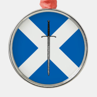 Bruce Sword on Saltire Metal Ornament