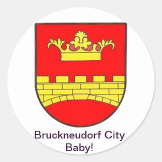 Bruckneudorf town center baby classic round sticker