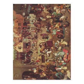 Bruegel d. ?., Pieter Serie der sogenannten bilder Postcard