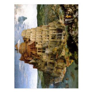 Bruegel d. ?., Pieter Turmbau zu Babel Tower of Ba Postcard