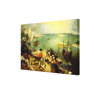 Bruegel's Landscape with the Fall of Icarus - 1558 Canvas Print