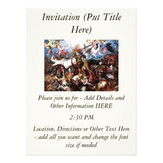 "Bruegel's ""The Fall Of The Rebel Angels"" (1562) Invitations"