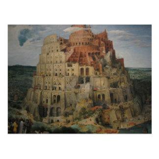 Bruegel's Tower of Babel Postcard