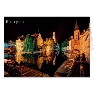 Bruges ate night card