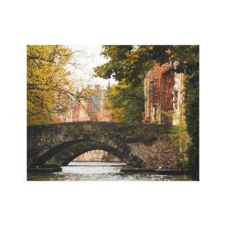 Bruges, Belgium Canal Travel Canvas Print